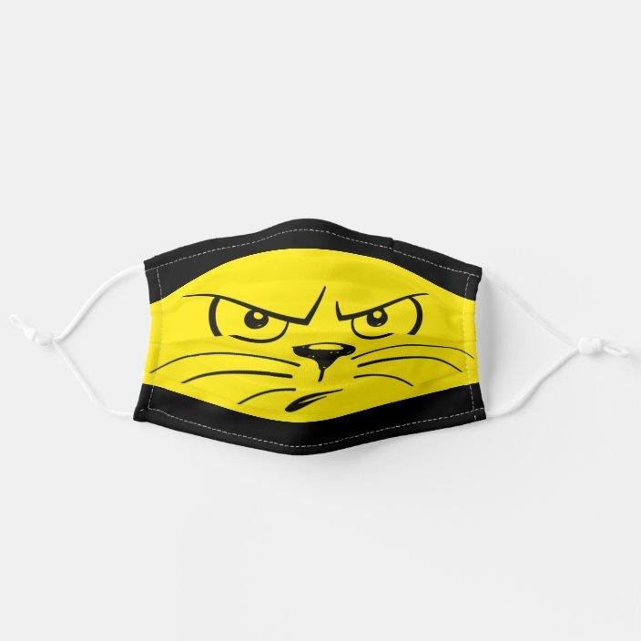 Cartoon Cat Face Cloth Face Mask Zazzle Com
