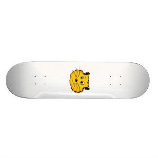 Cartoon Cat Face Skateboard Deck