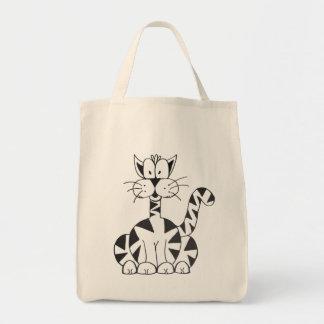 Cartoon Cat Grocery Bag