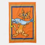 Cartoon Cat Kitchen Towel
