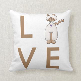 Cartoon Cat Love Pillow