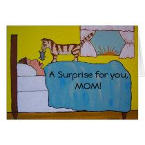 Cartoon Cat Mother's Day Card