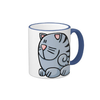 Cartoon Cat Ringer Coffee Mug