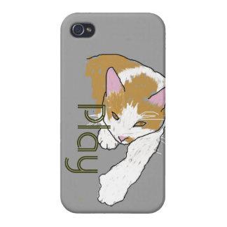 cartoon cat play iPhone 4/4S cover