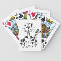 Cartoon Cat Poker Deck