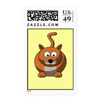 Cartoon Cat Postage