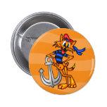 Cartoon Cat Sailor Pinback Buttons