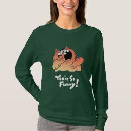 Cartoon Cat Tee Shirt   Cartoon LOL Funny T Shirt