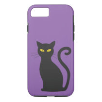 Cartoon Cat With Yellow Eyes iPhone 8/7 Case