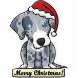 Cartoon Catahoula Leopard Dog Christmas Ornament