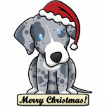Cartoon Catahoula Leopard Dog Christmas Ornament Photo Sculpture Ornament