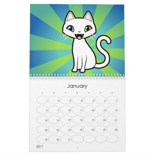 Cartoon Cats 2012 Design Your Own Calendar Zazzle