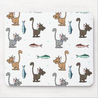 Cartoon Cats Mouse Pad
