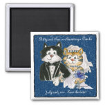 Cartoon Cats Wedding Save the Date  Magnets