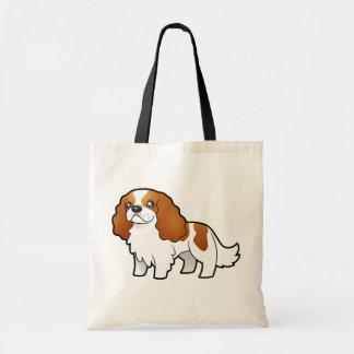 Cartoon Cavalier King Charles Spaniel Canvas Bag