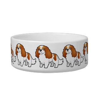 Cartoon Cavalier King Charles Spaniel Bowl