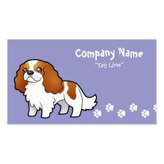 Cartoon Cavalier King Charles Spaniel Double-Sided Standard Business Cards (Pack Of 100)