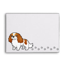 Cartoon Cavalier King Charles Spaniel Envelope