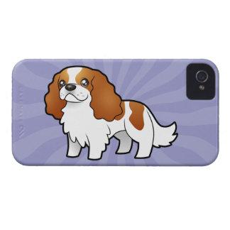 Cartoon Cavalier King Charles Spaniel iPhone 4 Case-Mate Case