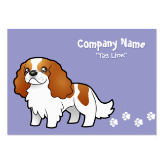 Cartoon Cavalier King Charles Spaniel Large Business Cards (Pack Of 100)