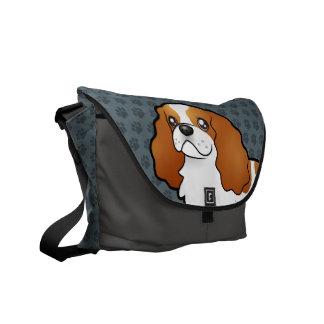 Cartoon Cavalier King Charles Spaniel Messenger Bag