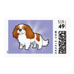 Cartoon Cavalier King Charles Spaniel Stamp