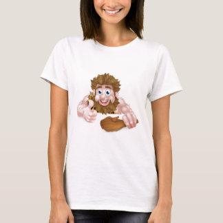Cartoon Caveman Above Sign T-Shirt