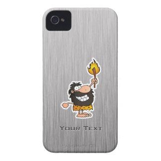 Cartoon Caveman; Metal-look Case-Mate iPhone 4 Case