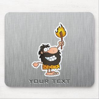 Cartoon Caveman; Metal-look Mouse Pad