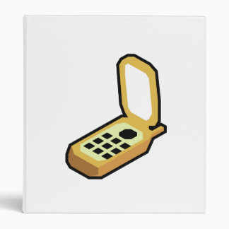Cartoon Cell Phone 3 Ring Binder