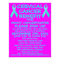 Cartoon Cervical Cancer Benefit Flyer