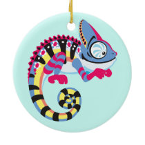 cartoon chameleon ceramic ornament