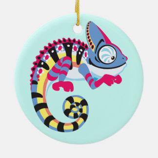 cartoon chameleon ceramic ornament