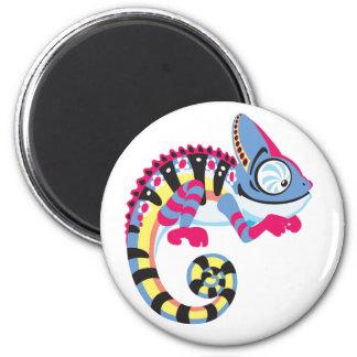 cartoon chameleon magnet