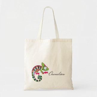 cartoon chameleon tote bag