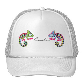 cartoon chameleon trucker hat