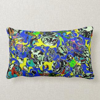 Cartoon Chaos lumbar pillow Throw Pillow