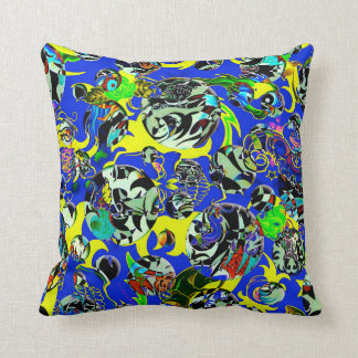 Cartoon Chaos throw pillow Throw Pillow