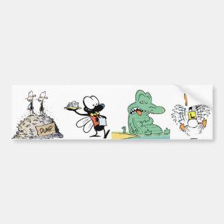 Cartoon Character Animals Bumper Sticker Car Bumper Sticker