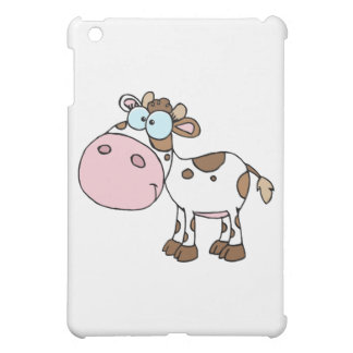 Cartoon Character Calf Different Color White iPad Mini Cases