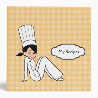 Cartoon Character Chef Recipe Binder in Yellow