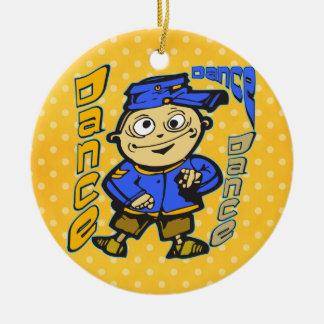 Cartoon Character Dance Ceramic Ornament