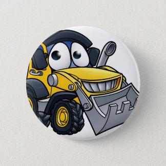 Cartoon Character Digger Bulldozer Button