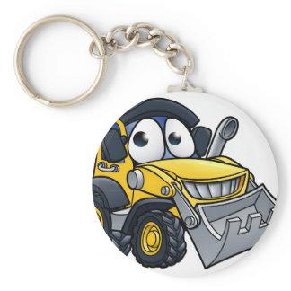 Cartoon Character Digger Bulldozer Keychain