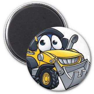 Cartoon Character Digger Bulldozer Magnet