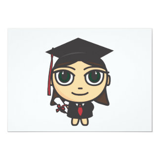 Cartoon Character Graduation Invitation