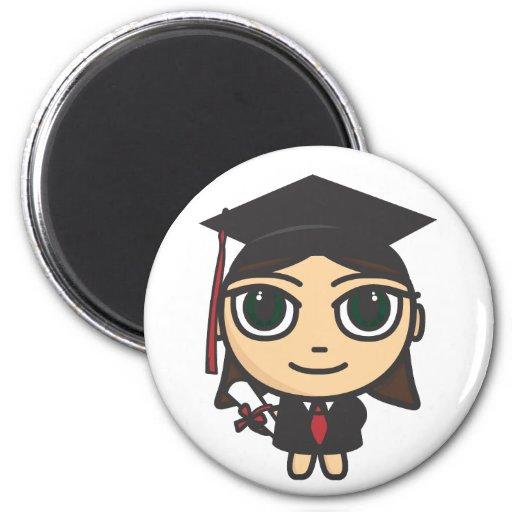Cartoon Character Graduation Magnet