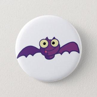 Cartoon Character Halloween Happy Bat Pinback Button