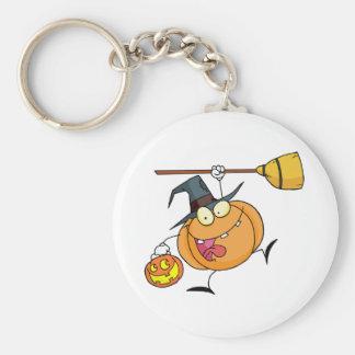 Cartoon Character Halloween Happy Pumkin with a br Keychain