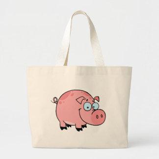 Cartoon Character Happy Pig Tote Bag